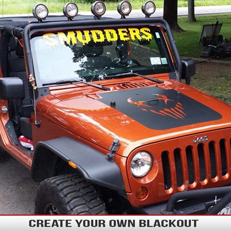 Make Your Own Hood Blackout Custom Hood Blackouts From