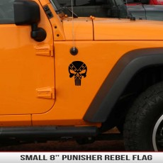 8″ Universal Punisher Rebel Flag