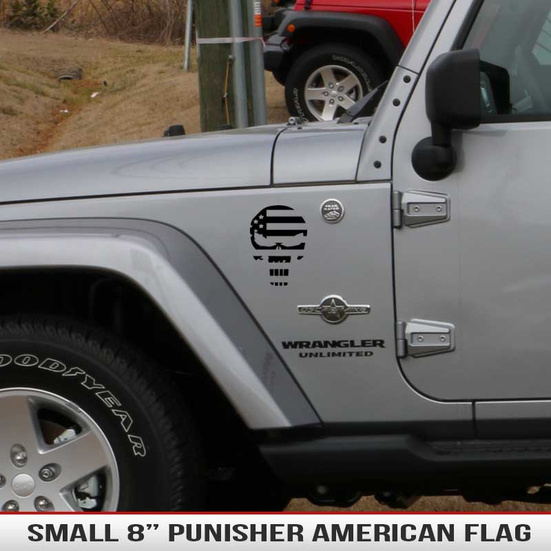 small-Punisher-skull-american-flag-decal-hood-fender-jeep-decal