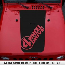 Slim 4 Wheel Drive Hood Blackout
