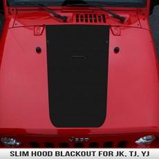 Slim Wrangler Hood Blackout JK TJ YJ
