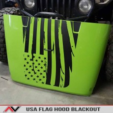 Jeep USA Decal Hood Blackout Jk Wrangler American Flag