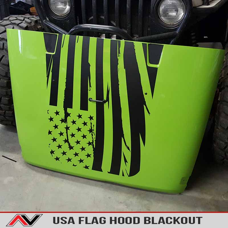 Usa Flag Blackout Jeep Wrangler Alphavinyl