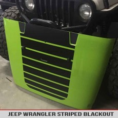 Jeep Wrangler Jk Tj Yj Striped Hood Blackout Decal