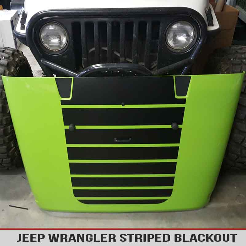 jeep-wrangler-jk-tj-yj-striped-hood-blackout