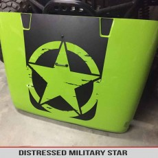 Jeep Wrangler Military Star Distressed Blackout Decal Oscarmike
