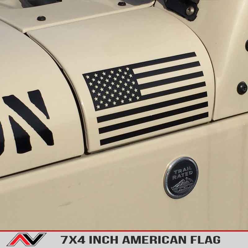 Large American Flag Decal Jeep Usa Freedom Edition Decal