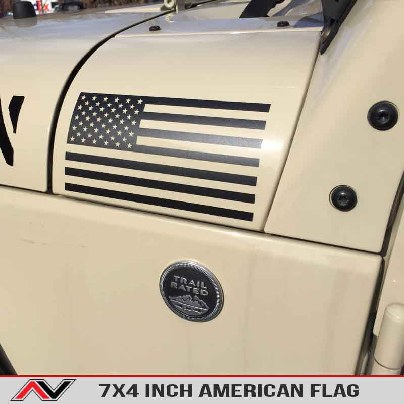 Ford Racing Decal American Flag large | AlphaVinyl