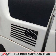Small American Flag Vehicle Decal Pair