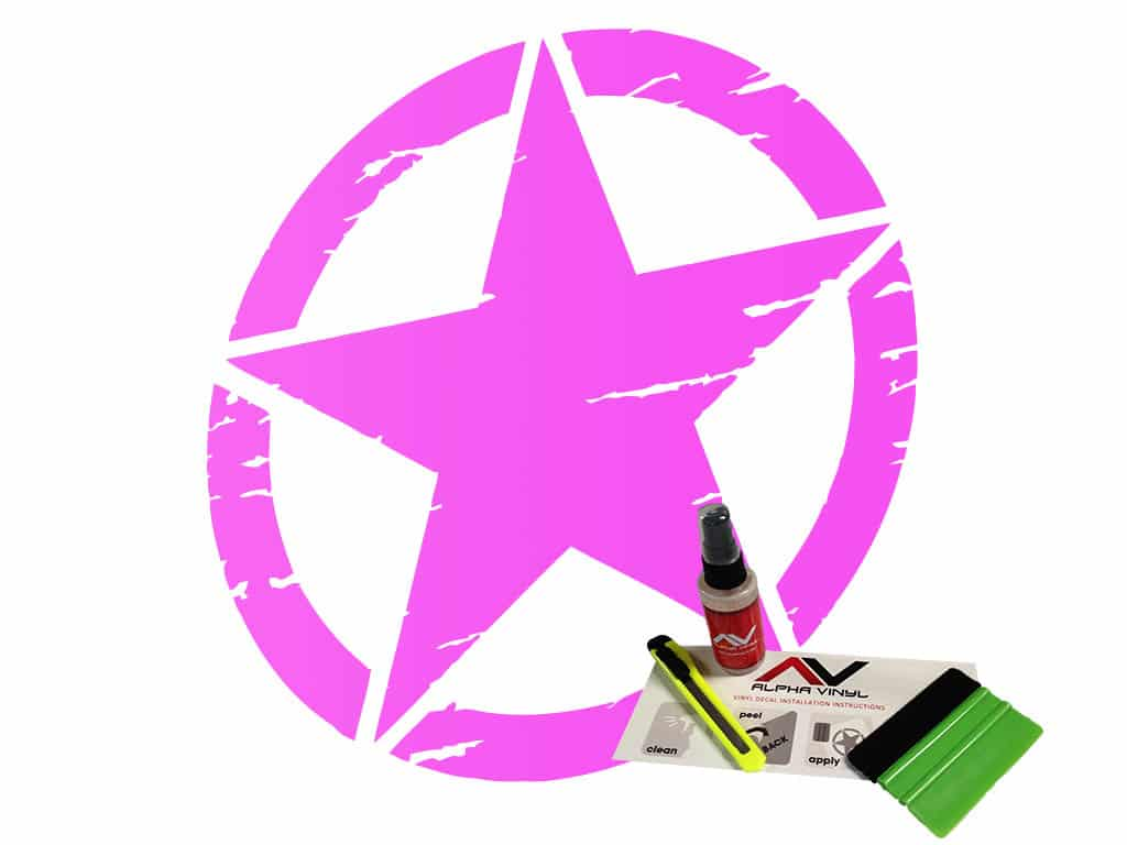 Freedom-star-military-star-distressed-pink