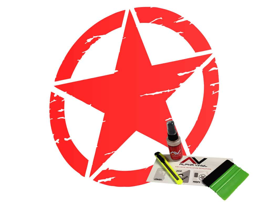 Freedom-star-military-star-distressed-red