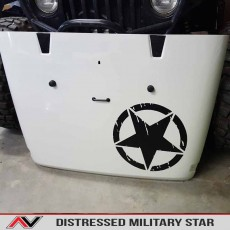Jeep Oscarmike Distressed Military Star Wrangler Cherokee Grandcherokee Tj Jk Yj