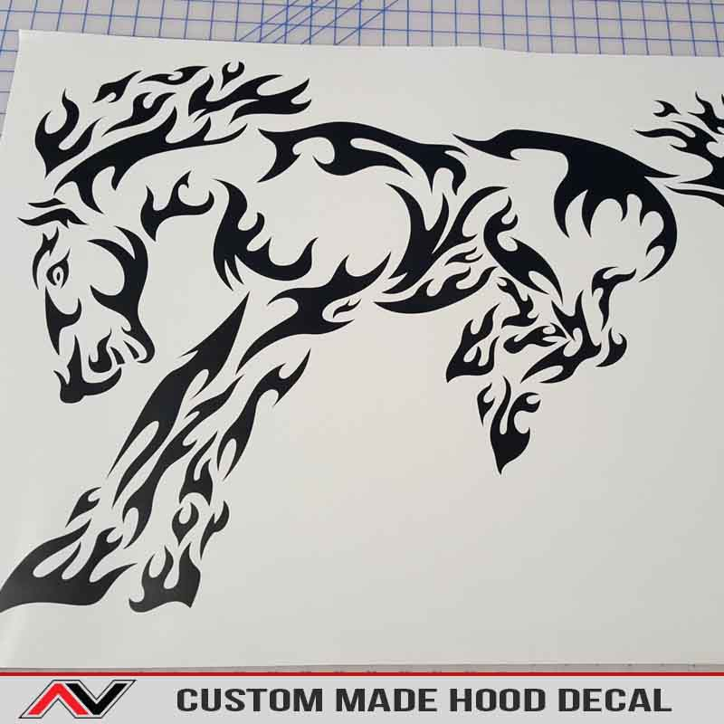 Upload your own image hood decal sticker vinyl