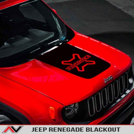 Jeep Renegade Trailhawk Hood Bonnet Front Vinyl Decal Sticker