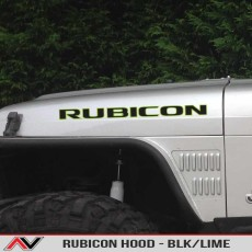 RUBICON – Hood Decal Blk/Lime
