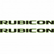 Rubicon Hood Decal Jeep Black Lime Green Jeep Sticker Banner Amazon