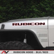 RUBICON – Hood Decal Blk/Red