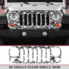 Jeep Wrangler JK Grille Skin Skulls