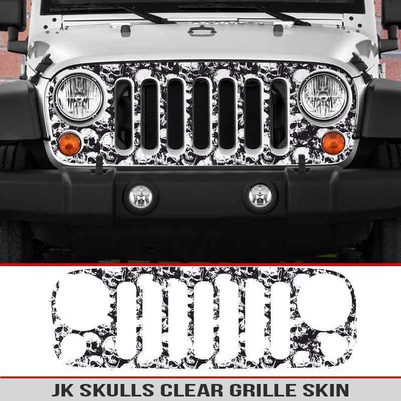Gulf Coast Toyota >> Jeep Wrangler JK Grille Skin Skulls | AlphaVinyl