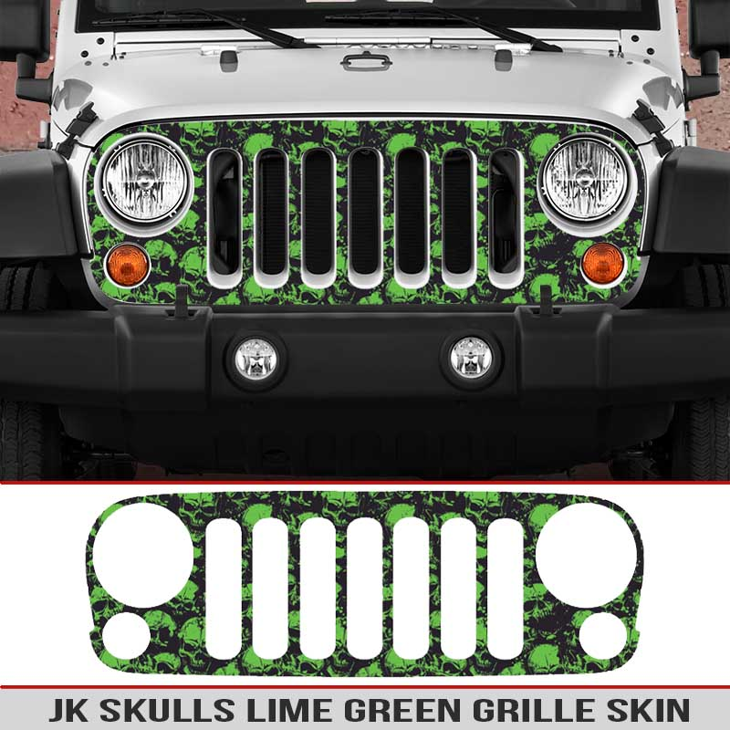 JK-Jeep-Wrangler-Grill-skins-skulls-decal-diecut-grill-lime-green
