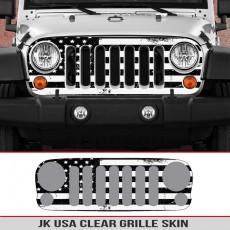Jeep Wrangler JK Grille Skin USA