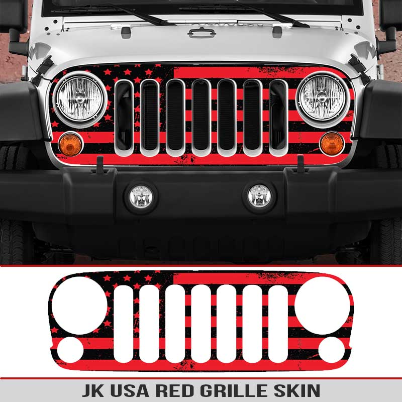 Jeep-wrangler-grille-skins-usa-wrangler-jk-distressed-decal-red