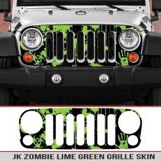 Jk Wrangler Zombie Blood Splatter Grille Skin Decal Lime