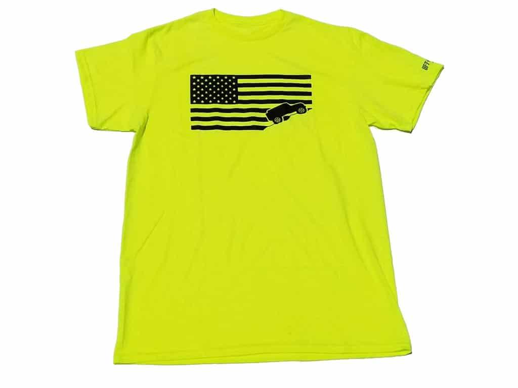 Jeep-USA-flag-lime-yellow-tee-shirt-jeep-shirt