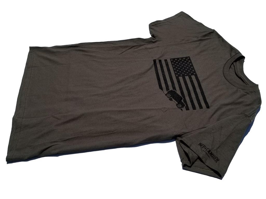 American USA Flag Jeep Tee Shirt AlphaVinyl