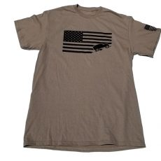 Jeep USA Flag Tee Military Tan Desert Camo Tshirt1