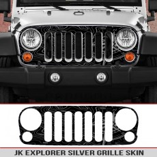 Jeep Wrangler JK Grille Skin Explorer Map
