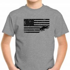 KIDS Distressed USA Jeep Flag Tee