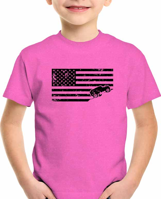 USA-flag-jeep-t-shirt-distressed-youth-kids-pink