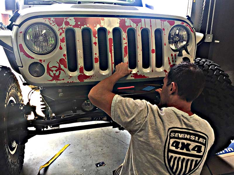 Alphavinyl Decal Application Jeep Grille Zombie Grill Wrap Skin Jk