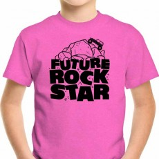 Future Rock Star Jeep Youth Kids T Shirt Pink