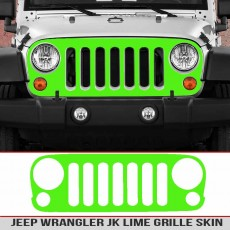 Lime Jeep Wrangler Jk Grille Skin Breastcancer Awareness Girl Jeep Decal