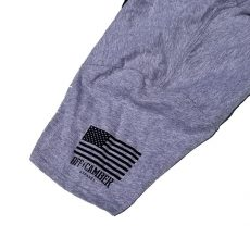Off Camber Sleeve Usa Tee Ashe Gray