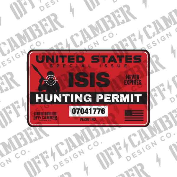 ISIS-hunting-permit-decal-jeep-windshield-sticker