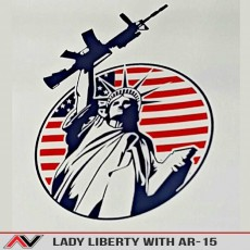 Statue Of Liberty W/ AR-15