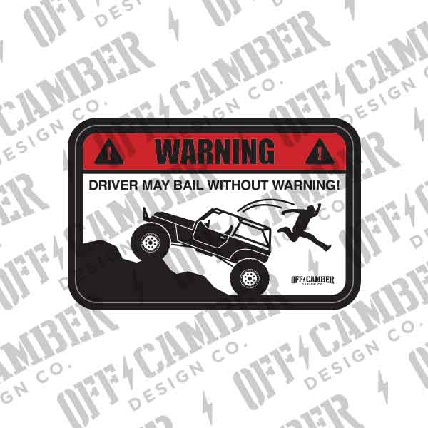 Warning-DriverMayBail-jeep-decal-windshield-badge