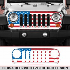 Wrangler JK Grille USA Red/White/Blue