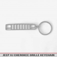 Jeep Cherokee XJ Grille Stainless Steel Keychain