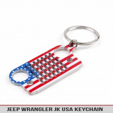 Jeep Trail America USA Painted Keychain