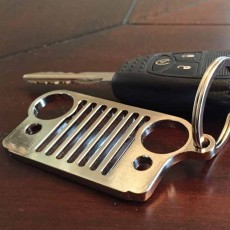 Jeep Keychain Silver Stainless Steel Jeep Wrangler Key