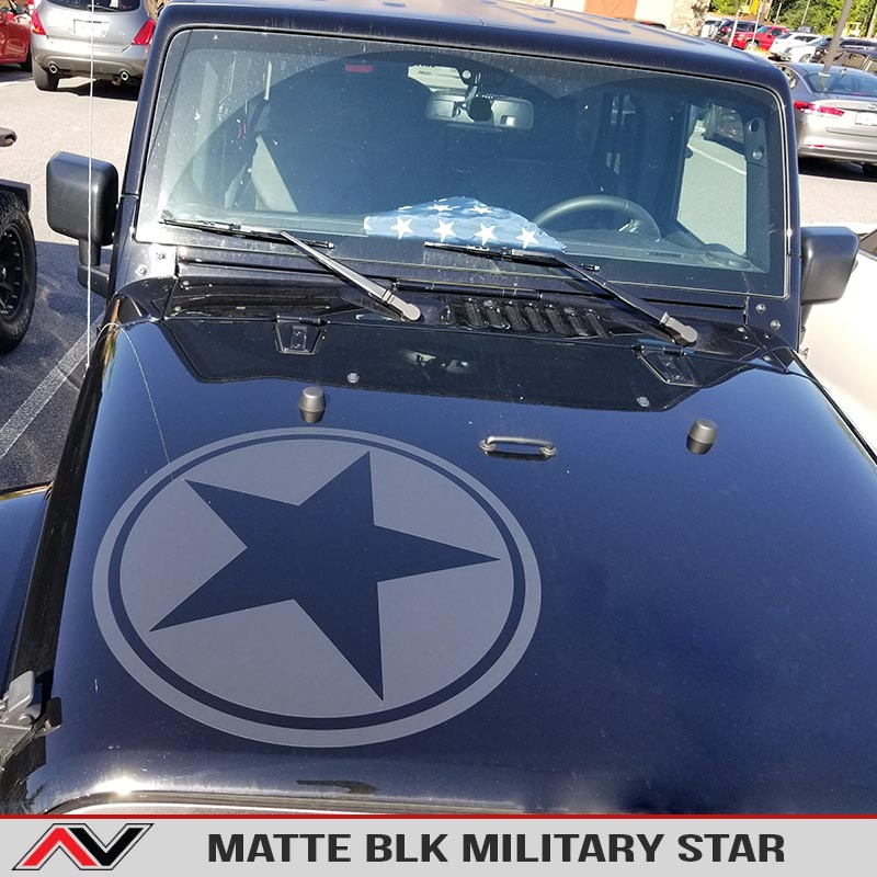 New Style Military Star Oscar Mike Hood Decal Alphavinyl