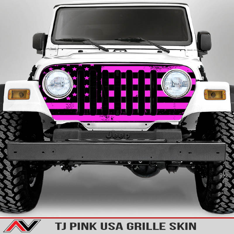 Jeep-wrangler-grille-skins-usa-wrangler-tj-distressed-decal-pink-decal