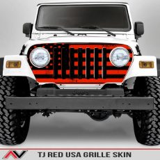 Jeep Wrangler Grille Skins Usa Wrangler Tj Distressed Decal Red Decal1