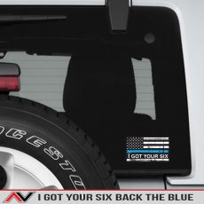I Got Your Six 6 Back The Blue Decal Jeep Truck Offroad Support Police Blue Lifes Matter
