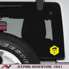 Jeeping Adventure 1941 Warning Label Decal Sticker