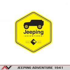 Jeeping Adventure Warning Toolbox/Bumper Sticker